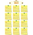 2013 Year calendar vector image