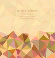 Abstract digital triangle tile background vector image