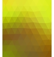 abstract geometric background in yellow and brown vector image