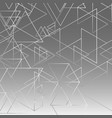 abstract gray gradient triangle background vector image