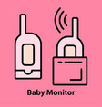 baby monitor on pink vector image vector image