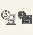 bitcoin calculator line and glyph icon accounting vector image vector image
