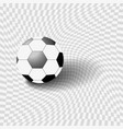 black and white ball on a gray background vector image vector image