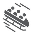 bobsleigh glyph icon sport and winter bobsled vector image vector image
