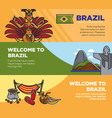 brazil tourism travel landmarks and famous vector image vector image
