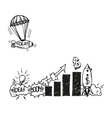 Business drawing vector image vector image