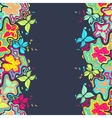 Butterfly Border Color vector image vector image