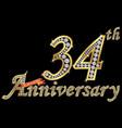 celebrating 34th anniversary golden sign
