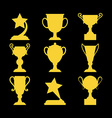 Champions awards winner icons vector image vector image
