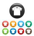 clean polo shirt icons set color vector image vector image