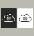 cloud computing - icon vector image vector image