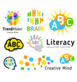 creative brain genius school human development vector image vector image