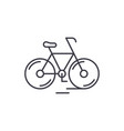 cute bicycle line icon concept cute bicycle vector image