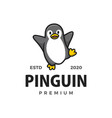 cute little pinguin cartoon logo icon vector image