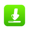 download icon green vector image