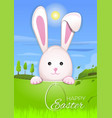 easter bunny in the background beautiful spring vector image vector image