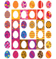 Easter colored eggs vector image vector image