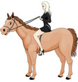 girl riding horse vector image