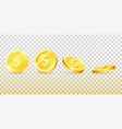 gold coins 3d background vector image