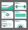 Green Black presentation templates Infographic vector image vector image