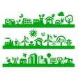 green city icons vector image vector image