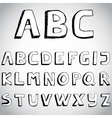 Grunge hand drawn alphabet vector image vector image