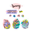 hand drawn abstract creative sweet food vector image vector image