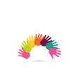 hands together heart symbol vector image vector image