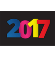Happy 2017 new year vector image vector image