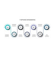 infographic circle design template with vector image