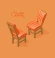 isometric cartoon chair vector image