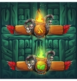 Jungle shamans GUI boosters fire and earth vector image