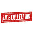 kids collection grunge rubber stamp vector image vector image