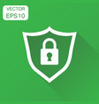 lock with shield security icon business concept vector image