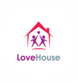 love house couple logo vector image vector image
