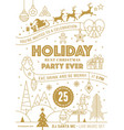 merry christmas cards set with golden hand drawn vector image vector image
