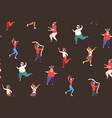 mix race people dancing having fun merry christmas vector image