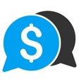 Money Messages Flat Icon vector image vector image