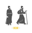 monk faith christianity orthodoxy vector image vector image