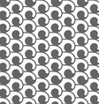 Monochrome seamless pattern with swirls vector image vector image