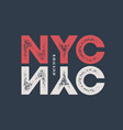 nyc t-shirt and apparel design with textured vector image