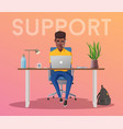online support 24 hours vector image vector image