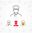 outline icon of chef vector image vector image
