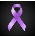 Periwinkle ribbon Eating Disorder awareness vector image vector image
