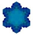 Polygonal Blue Symbol vector image vector image