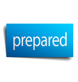 prepared blue paper sign on white background vector image vector image