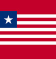 republic of liberia national flag vector image