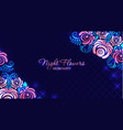 retro floral futuristic abstract background made vector image
