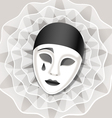 sad mask vector image vector image