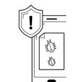 security system and antivirus vector image vector image